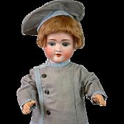 "*Ships Ahoy* Antique Boy 20"" in Vintage Sailor Costume on Toddler Body"