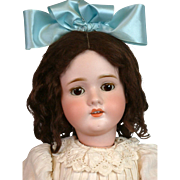 "Kley & Hahn Walkure 250 Antique Bisque Child Doll 27"" in Original Antique Wig"
