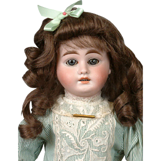 """Gebruder Kuhnlenz Antique Bisque Doll 16"""" for the French Trade"""