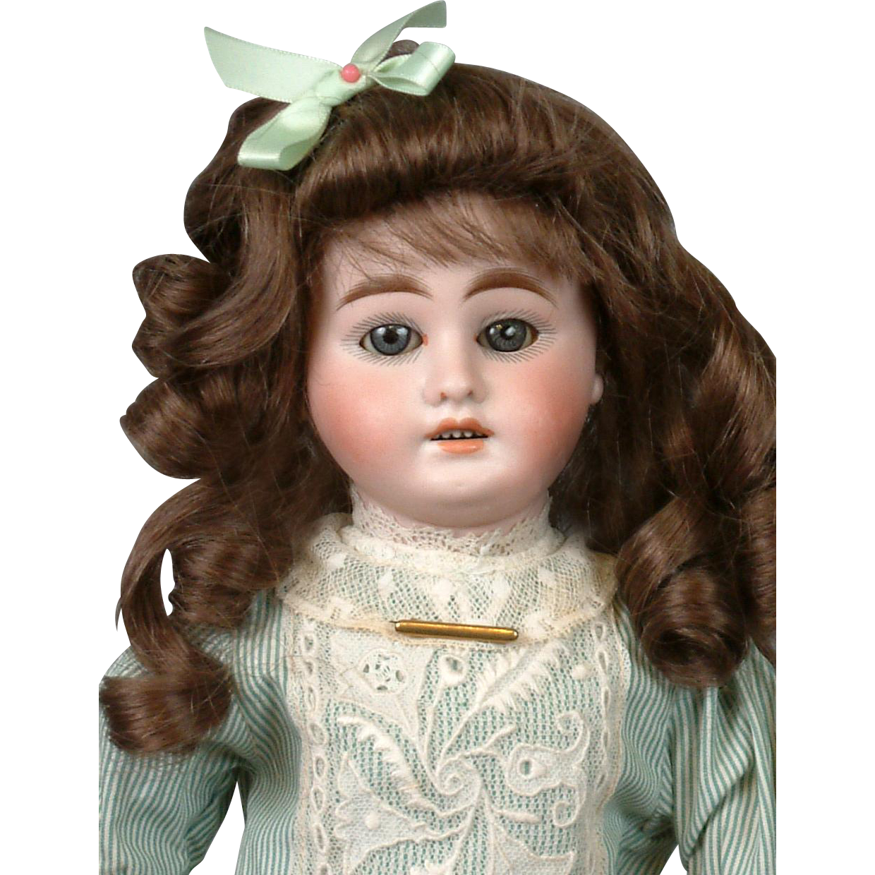 "Gebruder Kuhnlenz Antique Bisque Doll 16"" for the French Trade"