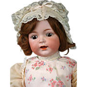 "Exceptional Kammer & Reinhardt 122 Antique Bisque Toddler Girl 24"" with Human Hair Wig"