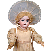 "Timeless Simon & Halbig 1079 Antique Bisque Doll 19"" Original Dress and Wig"