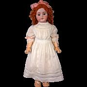 "Huge CM Bergmann/Simon & Halbig 28"" Antique Bisque Doll in Fiery Ginger Wig"
