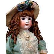 "Huge & Chunky 30"" Pouty Kestner 103 Child  Doll circa 1885 in Stunning Presentation Costume!"
