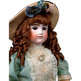 "Huge & Chunky 30"" Pouty Kestner 103 Child  Doll circa 1885 in Stunning Presentation Costume!"