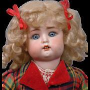 """13""""  Simon & Halbig 1299 Character Child circa 1912 -- Those Dimples!"""