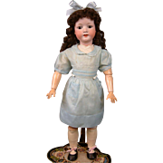 "Charming Heubach Koppelsdorf 302 27"" Antique Bisque Doll in Blue"