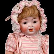 "Adorable Hertel & Schwabb 152 Antique Toddler Doll 11.5"" in Lush Pinks"