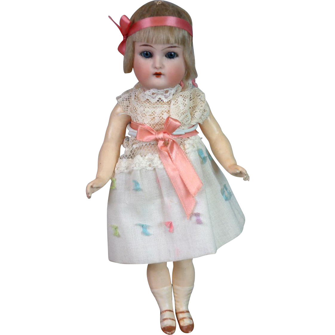 "Kammer & Reinhardt ""Flapper"" Antique Girl Doll on Composition Body 8.25"""