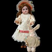 "Kammer & Reinhardt 8"" Antique Bisque Doll for Cabinet Display w/Bunny"