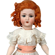 "Handwerck Halbig 20.5"" in Antique Costume with Ginger Wig"