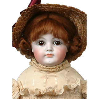 """Kestner 19"""" Early Antique Closed-Mouth Doll in Original Antique Costume"""