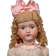 "Big 30"" Armand Marseille 390 Antique Bisque Doll with Sunny Blond Wig"