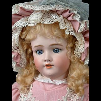 """Handwerck Halbig 109 DEP 30"""" Antique Bisque Doll in Pink Bebe Dress"""