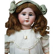 *Quintessential* French DEP Antique Bisque Doll in Original Antique Costume & Wig 25""