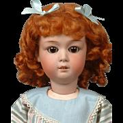 "Gebruder Heubach 8192 19"" Antique Bisque Doll in Ginger Wig"