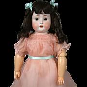 """25"""" Adorable Antique Bruno Schmidt Child Doll in Darling Pink Dress"""