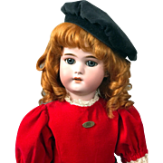 "23"" Simon & Halbig 1079 Antique Doll In A Striking Red Costume"
