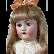 "Alt Beck & Gottschalk 23"" Antique Bisque Doll with Human Hair Wig"