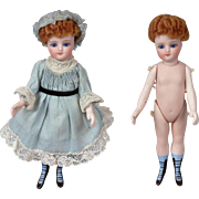 "7"" RARE Simon & Halbig All Bisque French Mignonette All Original With Eight Strap Bootines!"