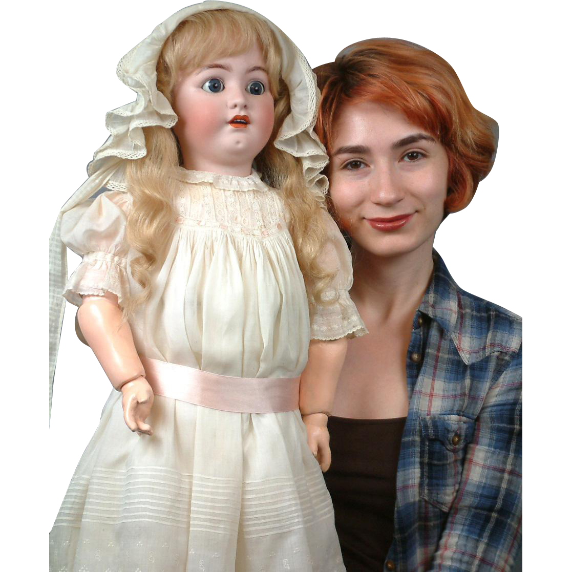 "Huge 32"" Rare Chunky Franz Schmidt Antique Doll in All Antique Costume"