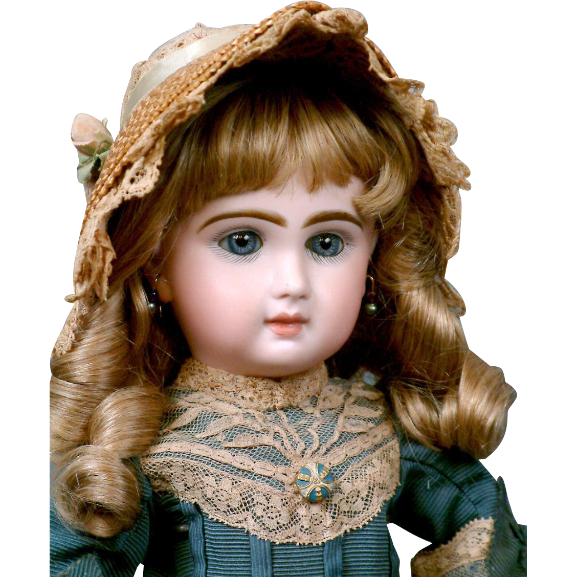 """15.5"""" French Louvre Bebe by Jumeau in Charming Costume"""