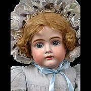 "Beautiful 22.5"" Antique Kestner 161 Doll on Pristine Body in Pale Blues"