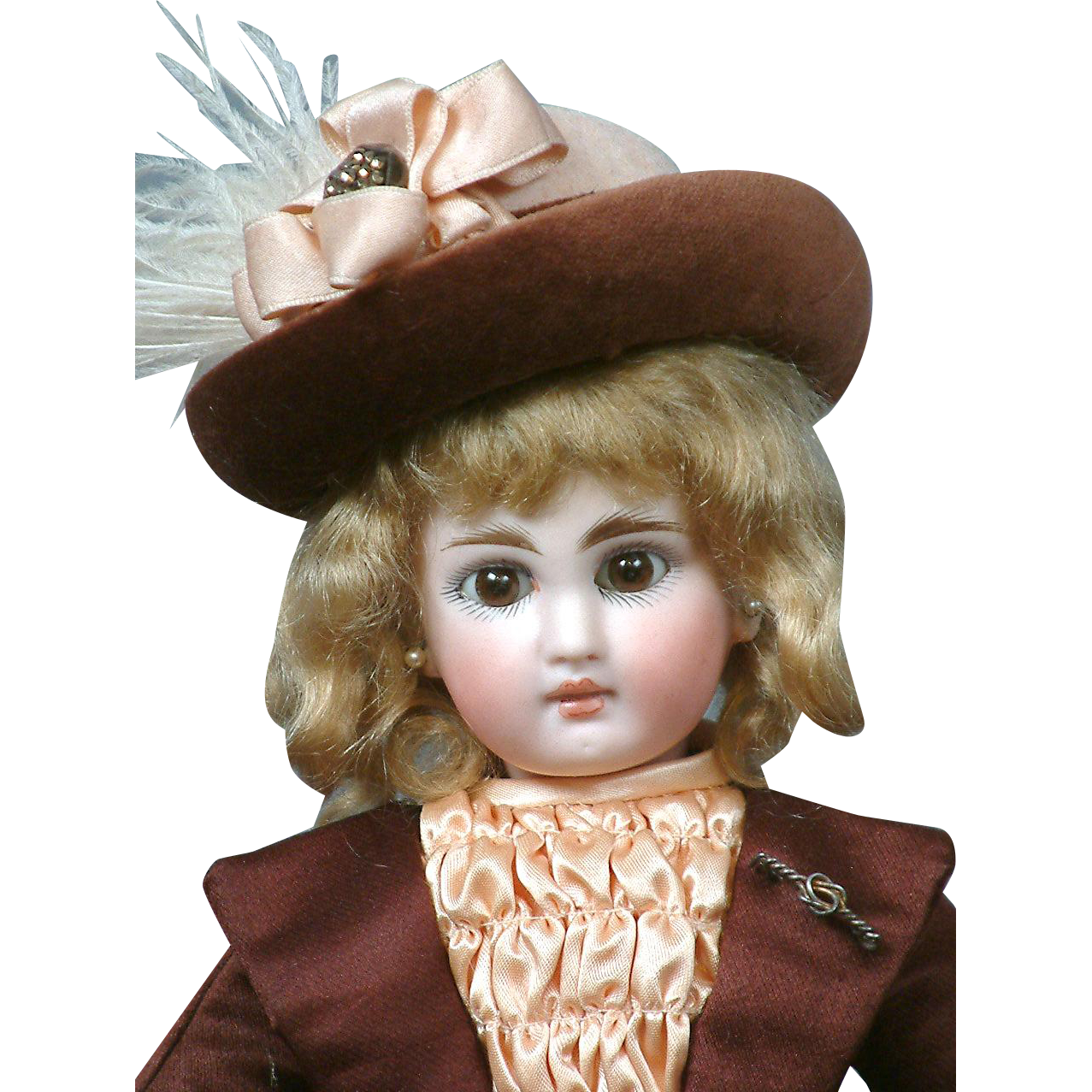 "Petite Darling 11"" German Belton-Type to Emulate The French Jumeau Bebe in Cute Bebe Costume"