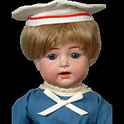 "Kammer & Reinhardt 122 Toddler Boy Antique Doll in Sailor Costume 13.5"""