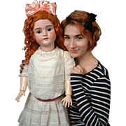 """Oustanding Life-Sized 35"""" HUGE and Chunky """"Walkure"""" by Kley & Hahn Antique Doll-"""