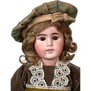 "Gebruder Kuhnlenz 16.5"" Antique German Bisque Doll for The French Trade"