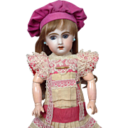 """13.5"""" Size 3 Jumeau Bebe French Doll (circa 1899) in Factory Chemise"""