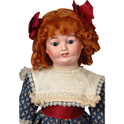 """Toto"" by Lanternier Limoges 17"" in Ginger Wig & Colorful Costume"