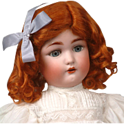 "19.5"" Antique Cuno & Otto Dressel 1349 ""Jutta"" Doll c.1906 in Lacy White Antique Dress"
