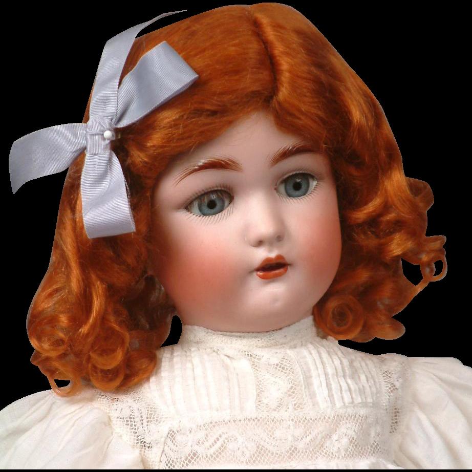 "19.5"" Antique Cuno & Otto Dressel 1349 ""Jutta"" Doll c.1906 in Lacy White Antique Dress"