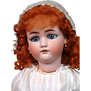 "*Ginger Beauty* 28.5"" Simon & Halbig 1349 ""Jutta"" Antique Bisque Doll"