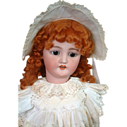 "*Incredible* 30"" CM Bergmann / Simon & Halbig Antique Bisque Doll in Original Antique Dress"