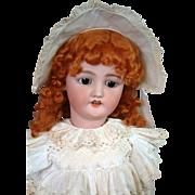 """*Incredible* 30"""" CM Bergmann / Simon & Halbig Antique Bisque Doll in Original Antique Dress"""