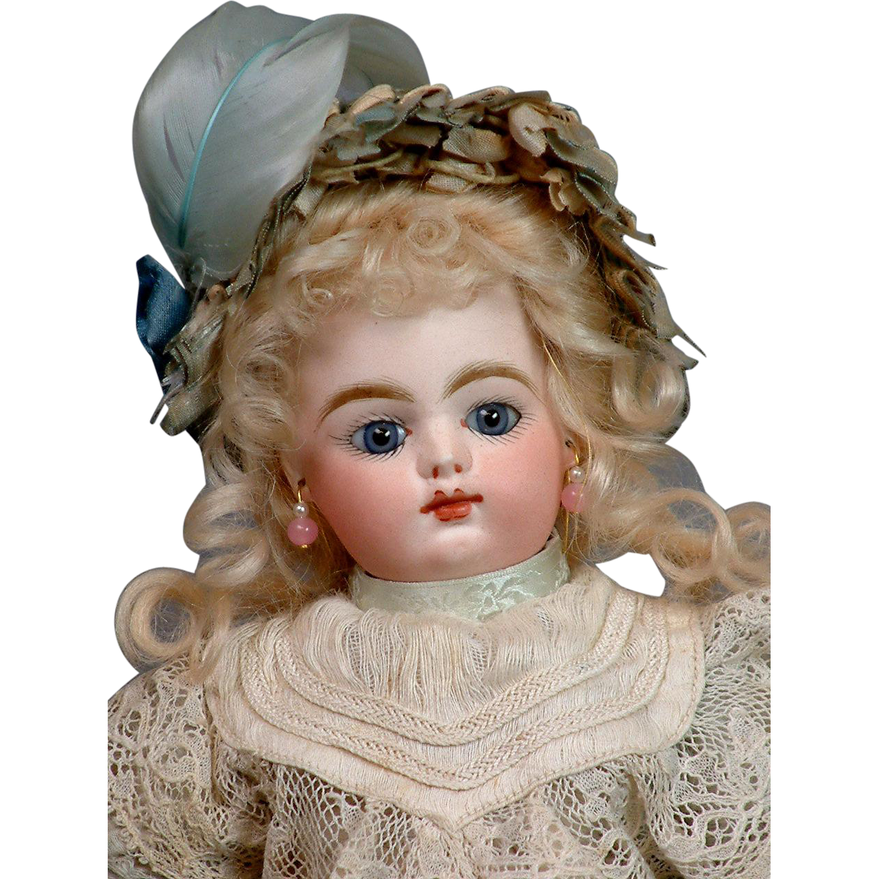 """11.5"""" Size 1 Francois Gaultier French Bebe in All Antique Costume--So Sweet!"""