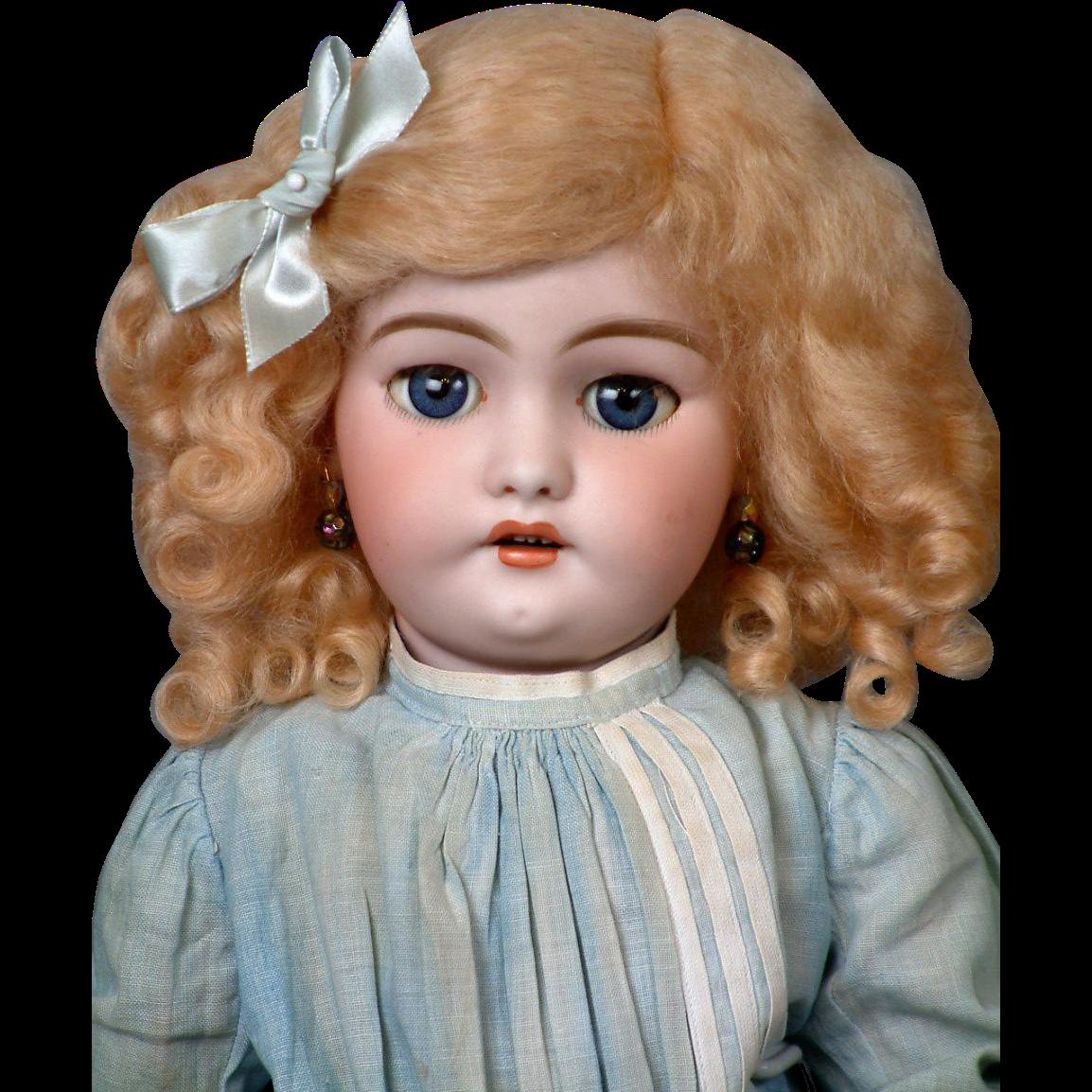 "*Golden Angel* Simon & Halbig 1039 Antique Bisque Doll 18"""