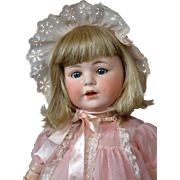 "*Delightful* 20"" Cuno Otto Dressel ""Jutta"" Character Toddler in Antique Pink Dress"
