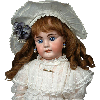 "23.5"" All Original Bahr & Proschild 224 closed-mouth German Doll for the French Trade with Pouting Expression!"