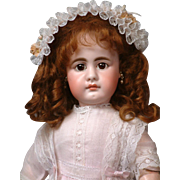 """17"""" Simon & Halbig 949 with Pouty Closed Mouth, Lovely Antique Costume"""