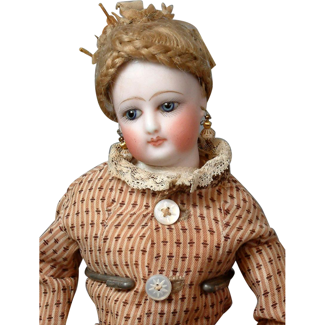 """12"""" Early Jumeau Poupee Fashion Doll in Antique Gown~ Original Presentation, Superb!"""
