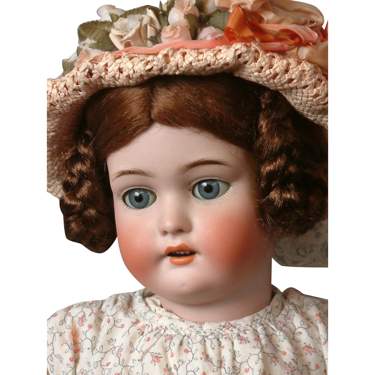 Exquisite Simon & Halbig 1079 Antique Bisque Doll in Adorable Costume 22""