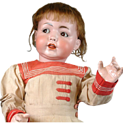 """RARE Larger Than Life 28""""Konig & Wernicke 99 Mein Stolz (My Pride) Antique Character Baby In Original Box with Flirting Eyes- Head Circumference 18"""""""