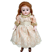"5.5"" Antique All Bisque Simon and Halbig 891 Doll w/ ~Rare Molded Stockings! And Glass Eyes~"