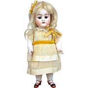 "7"" Antique All Bisque Kestner 130 Doll with Glass Eyes! ~Precious Presentation~"