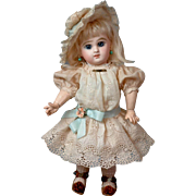 "RARE Diminutive 10.75"" Size 2 Tete Jumeau Bebe  With Antique French Shoes & Original Wig--So Sweet!!"