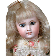 "16"" First Series Almond-Eyed Portrait Jumeau Marked 0 Model C. 1877-1883"